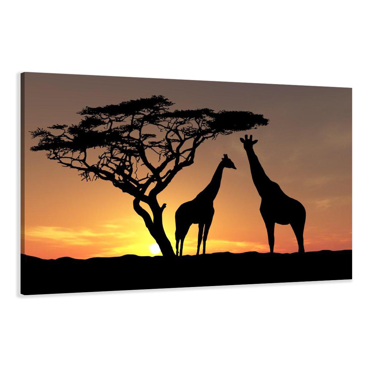 leinwand wandbilder bild afrika giraffen verschiedene. Black Bedroom Furniture Sets. Home Design Ideas