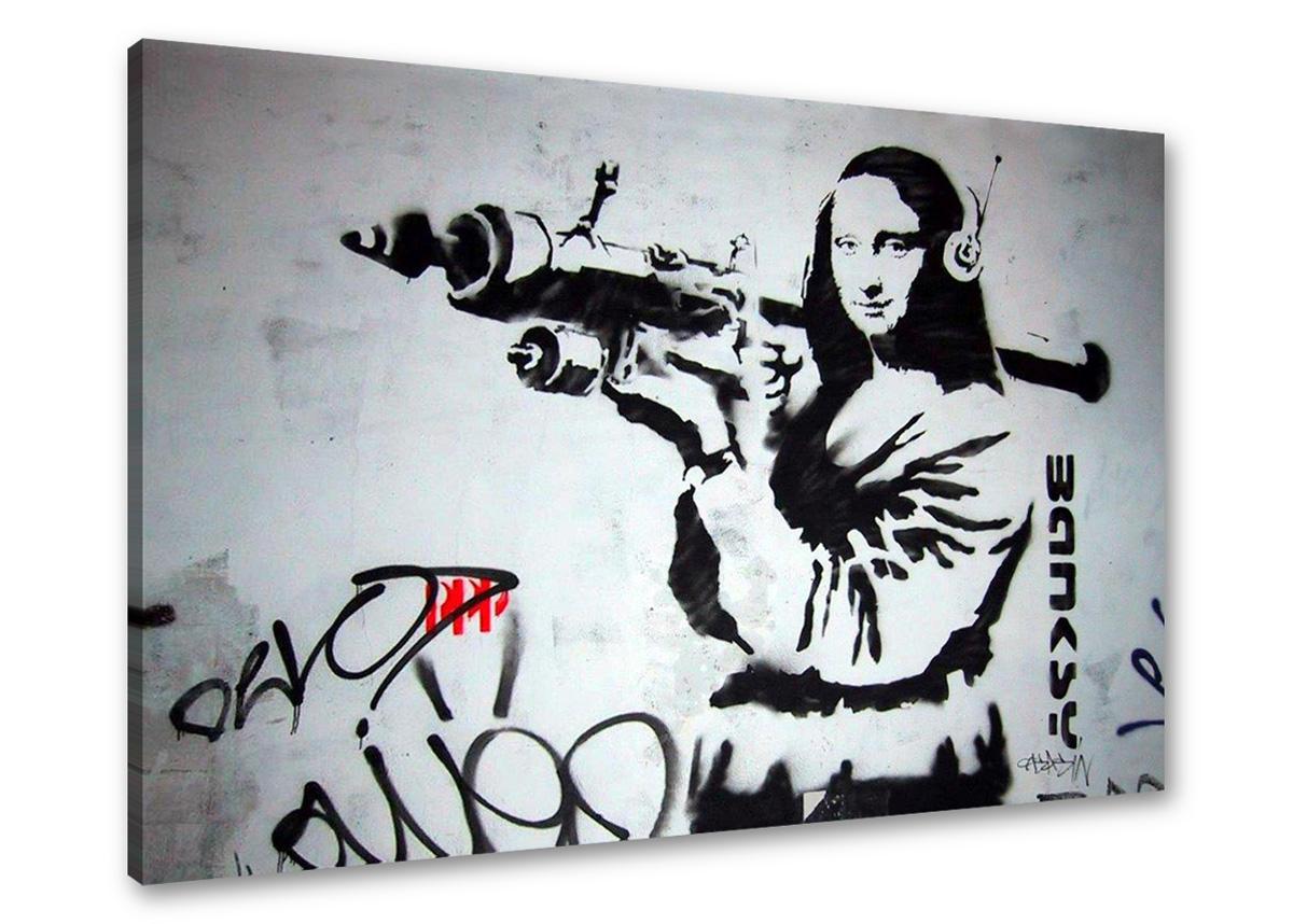 Leinwand wandbilder bild banksy verschiedene motive 80 x 60 cm 1551 c1 ebay - Leinwand motive ...